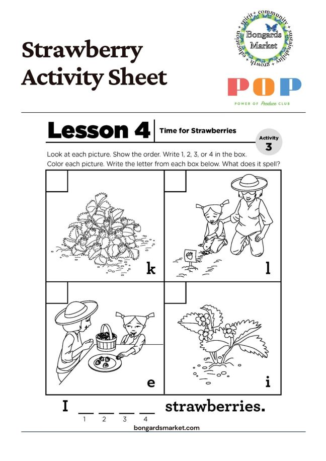 PoP Club Activity Sheet