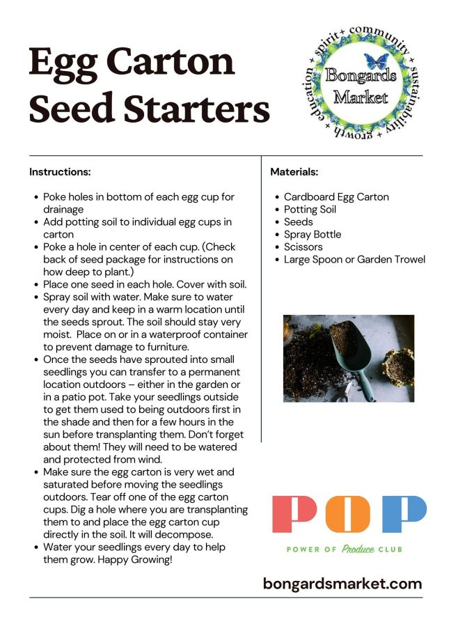 PoP Club Growing Seeds