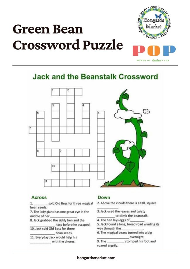 PoP Club Crossword