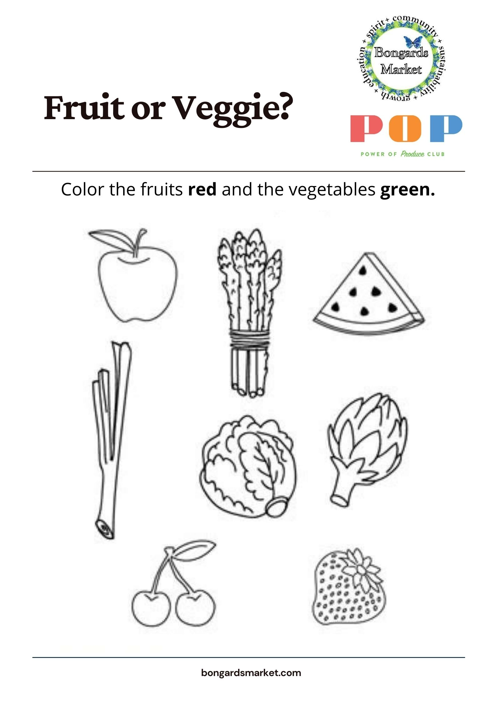 PoP Club Fruit or Veggie